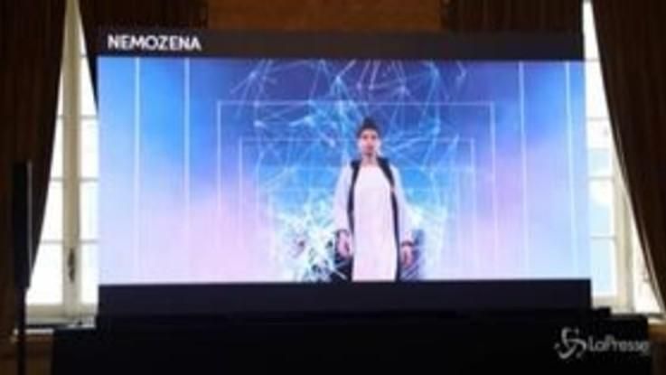 Milano Fashion Week, Laura Barth alla sfilata di Nemozena: sulla passerella modelle avatar