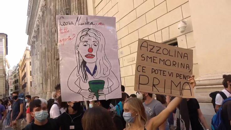 Giornata di proteste, studenti in piazza in tutta Italia