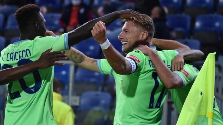Serie A, Lazzari-Immobile: la Lazio passa a Cagliari 2-0