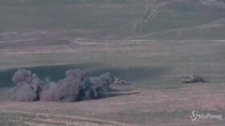 Scontri Armenia-Azerbaigian: le immagini diffuse dal ministero della Difesa armeno