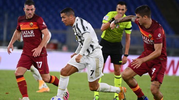 Ronaldo salva la Juve, la Roma sciupa una grande occasione: è 2-2