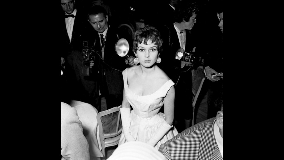 l'attrice Brigitte Bardot al Festival del cinema di Cannes del 1955 ©