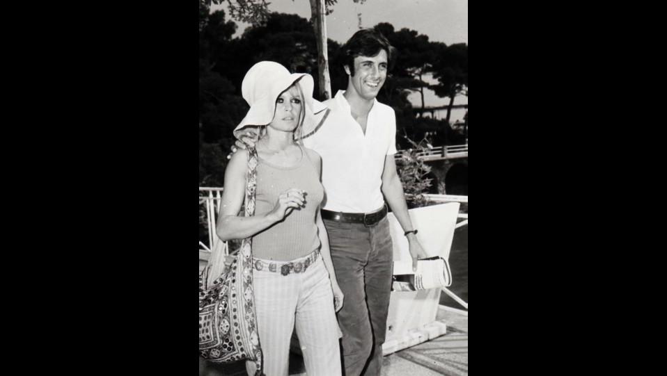 l'attrice Brigitte Bardot con il playboy Gigi Rizzi nel 1968 a Montecarlo ©