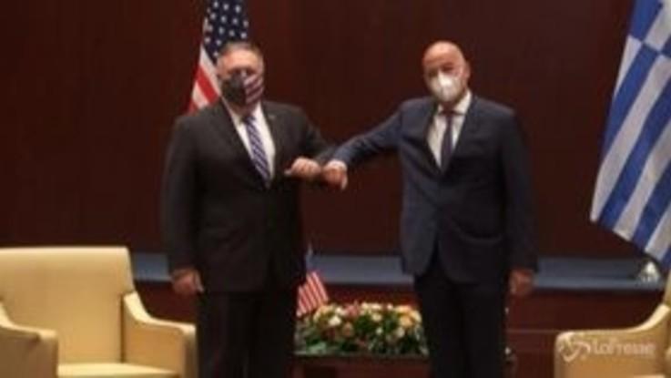 Usa, Pompeo in Grecia per arginare le tensioni nel Mediterraneo orientale