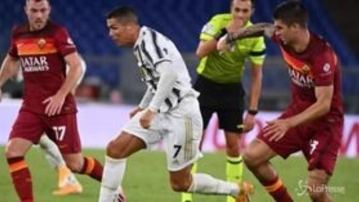 Serie A, la Roma frena la Juventus