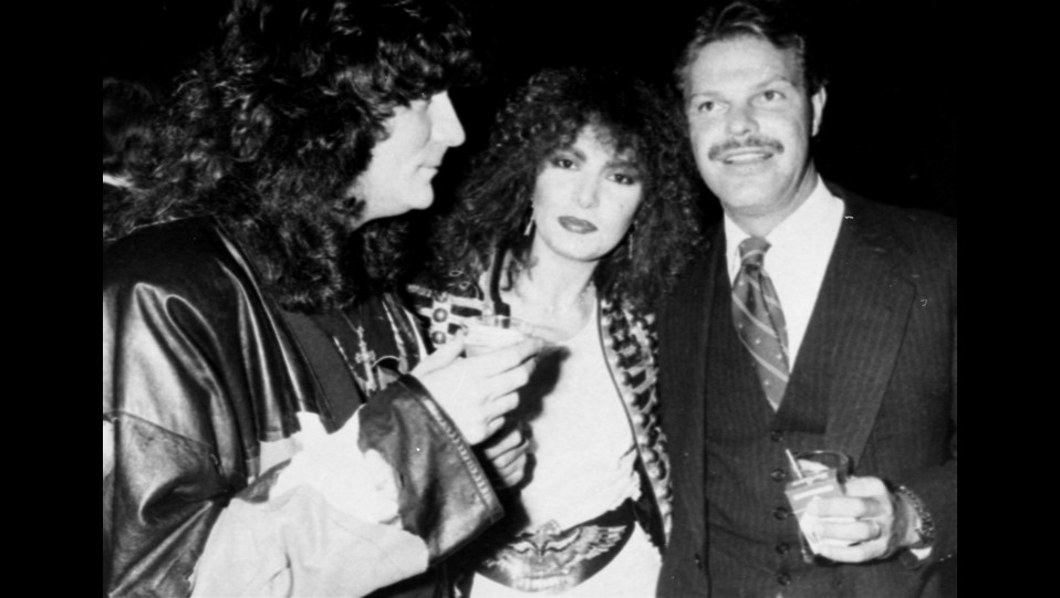 1982 - Renato Zero con Loredana Berte' e Egon von Furstenberg allo Xenon di New York ©