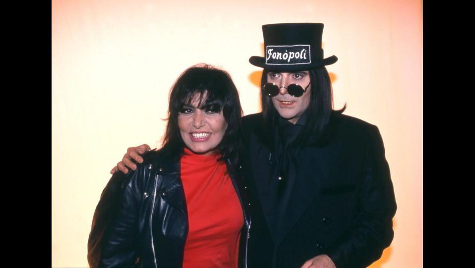 Renato Zero con Loredana Berte' nel 1994 ©