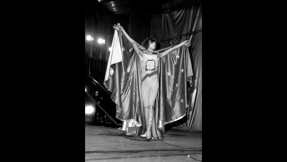 Renato Zero in concerto Zerofobia negli anni '70 ©