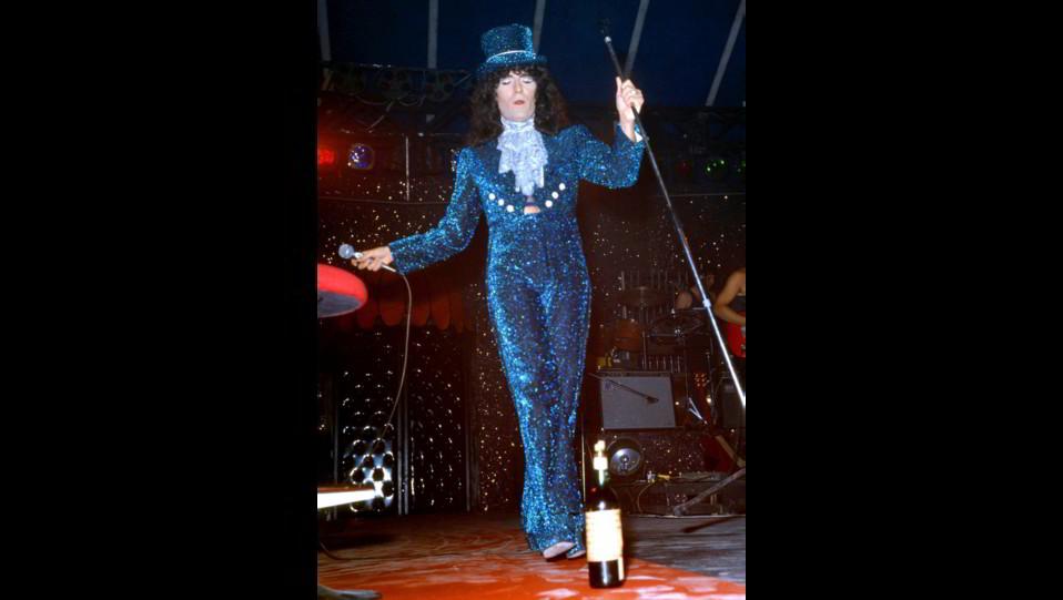 Renato Zero in concerto alla Bussola Domani nel 1980 ©