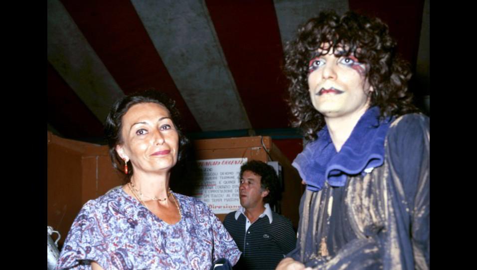 Renato Zero con Flora Mastroianni nel 1978 ©