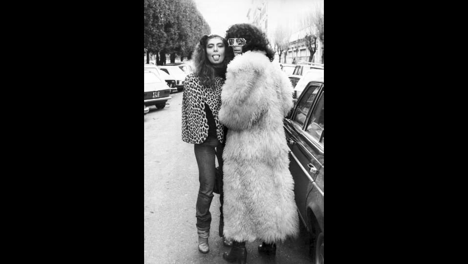 Renato Zero con Loredana Berte negli anni 80 ©