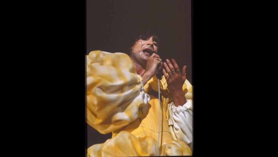 Renato Zero in concerto nel 1970 ©