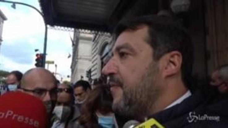 """Caso Gregoretti, Salvini: """"Spero che mi dicano 'arrivederci e buon lavoro'"""""""