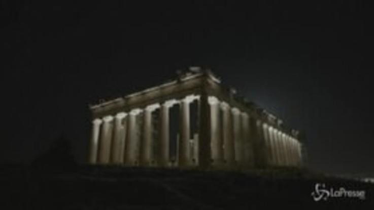 Atene: l'Acropoli fa spettacolo con una nuova illuminazione