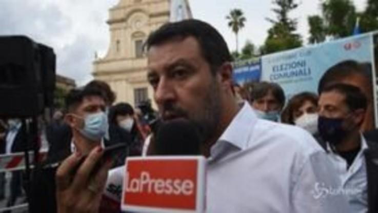 """Caso Gregoretti, Salvini: """"Partito di governo che va in piazza a far casino durante processo non è serio"""""""
