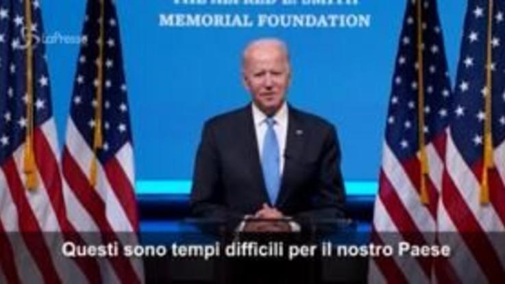 """Usa2020, Biden: """"Sono tempi difficili per il nostro Paese"""""""