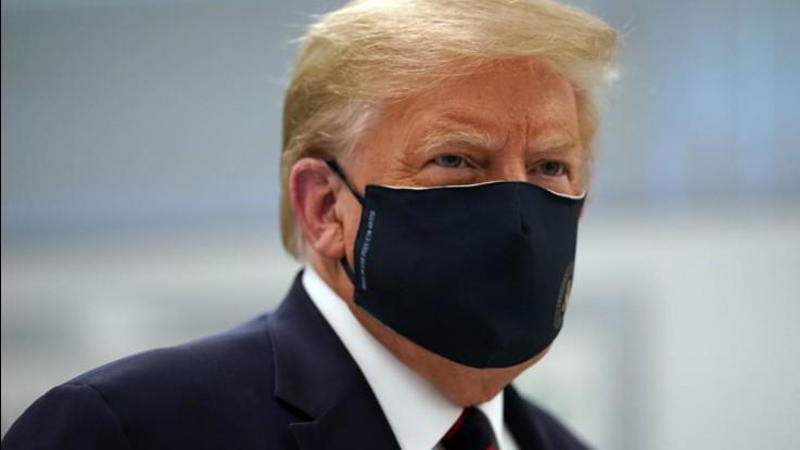 Donald Trump e la mascherina: un rapporto difficile