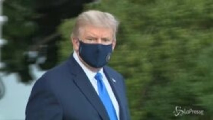 Covid, Trump lascia la Casa Bianca: l'arrivo all'ospedale militare