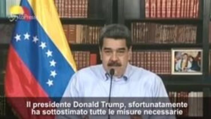 """Il messaggio di Maduro a Trump: """"È un nemico ma spero che guarisca"""""""