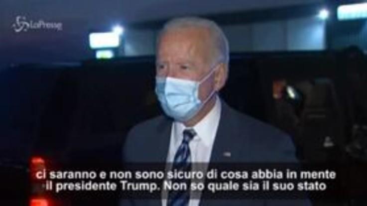 """Usa, Biden: """"Se Trump positivo non dovremmo fare il dibattito"""""""