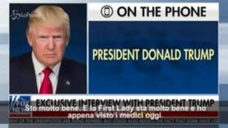 """Usa, Trump: """"Sto molto bene. Farò un comizio sabato sera"""""""