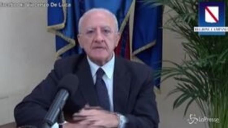 """Campania, De Luca: """"Con mille casi e 200 guariti è lockdown"""""""
