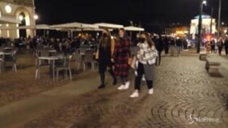 Covid-19, Torino: movida ordinata, i giovani rispettano le regole