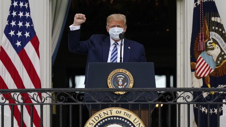 """Usa 2020, Trump: """"Sono immune al Covid-19"""""""