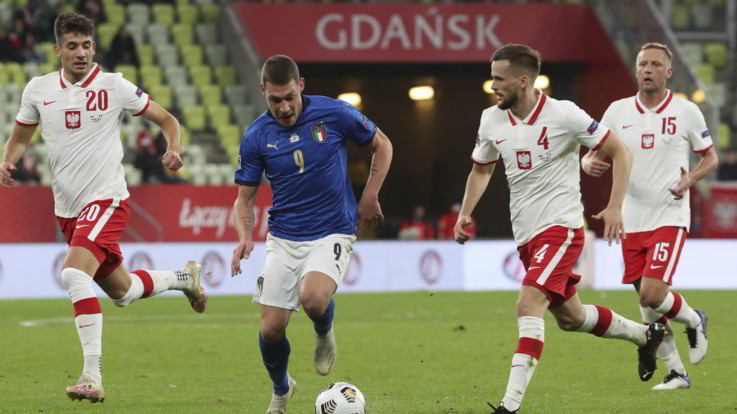 Nations League, Italia spreca e sbatte contro muro polacco: 0-0 a Danzica