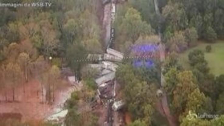 Usa, treno deraglia ad Atlanta, evacuate le abitazioni