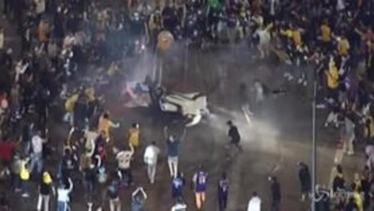 Nba, migliaia di tifosi in festa per la vittoria dei Lakers