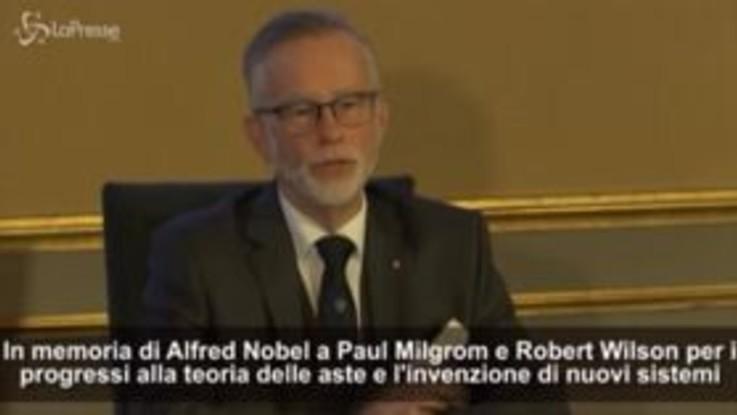 Nobel per l'Economia a Paul R. Milgrom e Robert B. Wilson