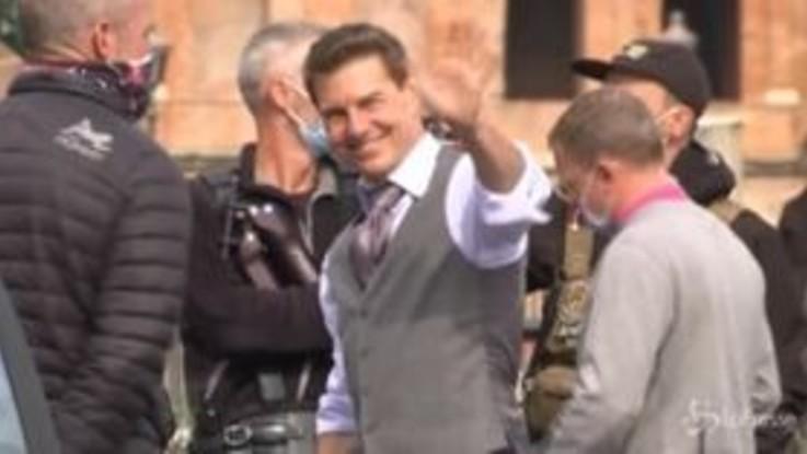 Tom Cruise a Roma per il nuovo 'Mission Impossible': le riprese nella via dei Fori Imperiali