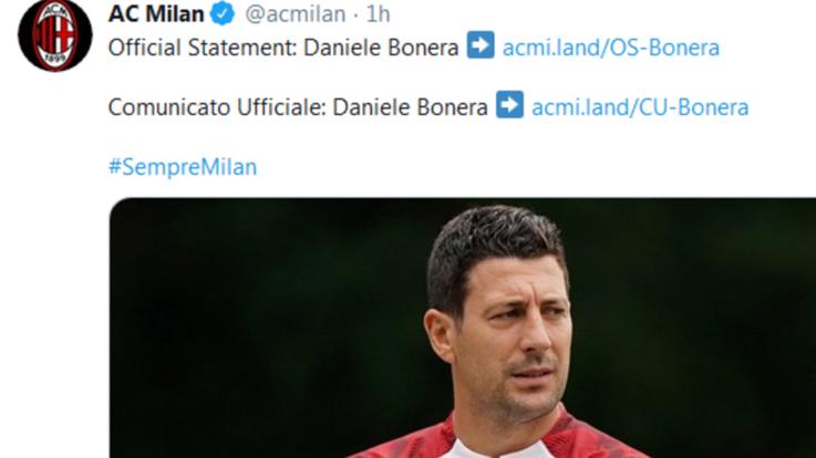 Milan: positivo Daniele Bonera, nello staff di Pioli