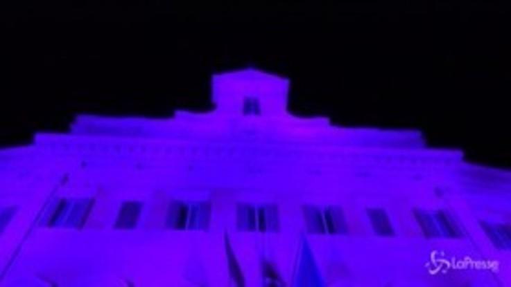 Tumori: Montecitorio si illumina di rosa contro cancro al seno metastatico