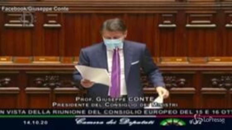 """Recovery fund, Conte alla Camera: """"Ampio coinvolgimento Parlamento"""""""
