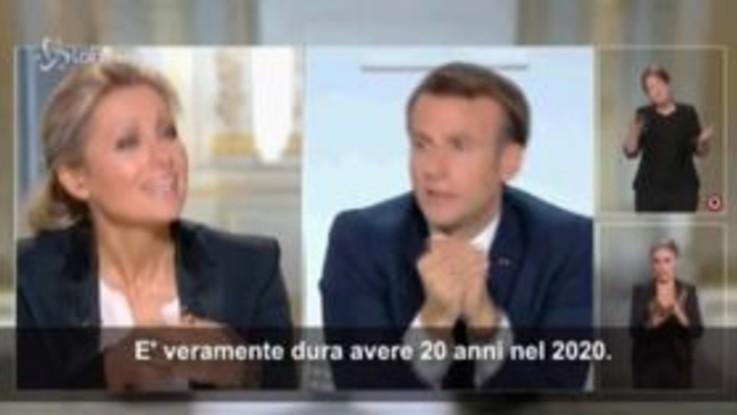 """Covid, Macron: """"E' difficile avere 20 anni nel 2020"""""""