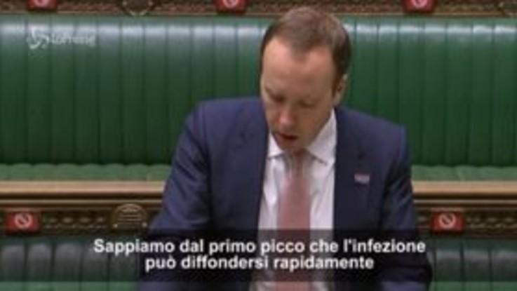 Londra: il ministro della Salute annuncia l'allerta di secondo livello