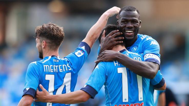 Serie A, il Napoli travolge l'Atalanta: 4-1