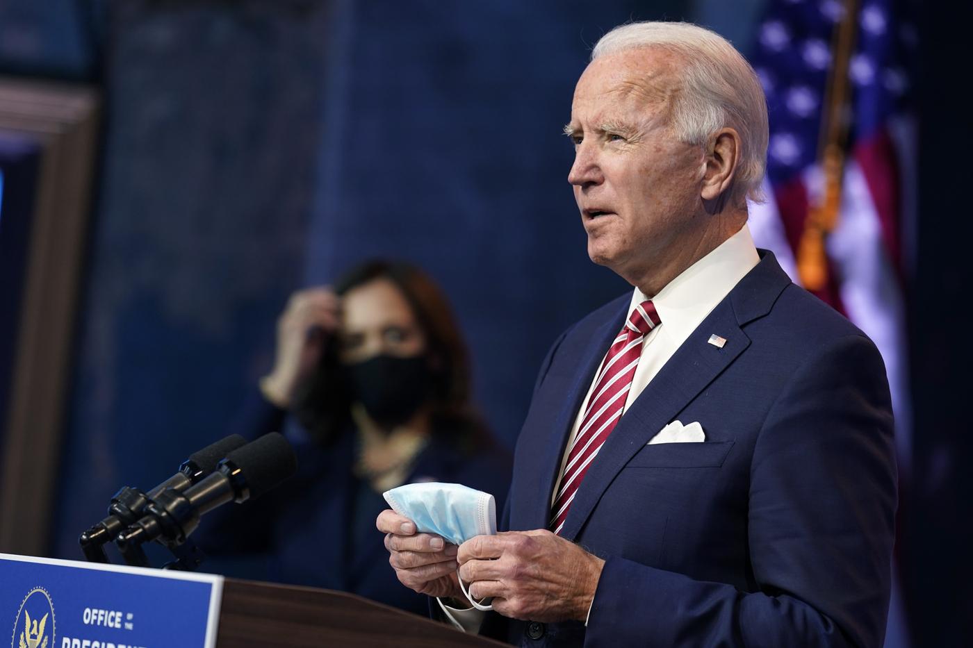 Usa, Joe Biden e Kamala Harris illustrano la loro agenda post-Covid