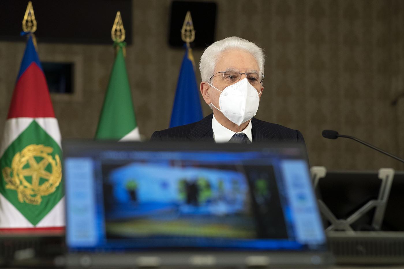 Mattarella in videoconferenza alla sessione di apertura della XXXVII Assemblea annuale ANCI