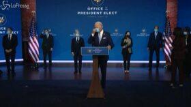 """Il presidente eletto Biden annuncia la sua squadra: """"L' America è tornata"""""""