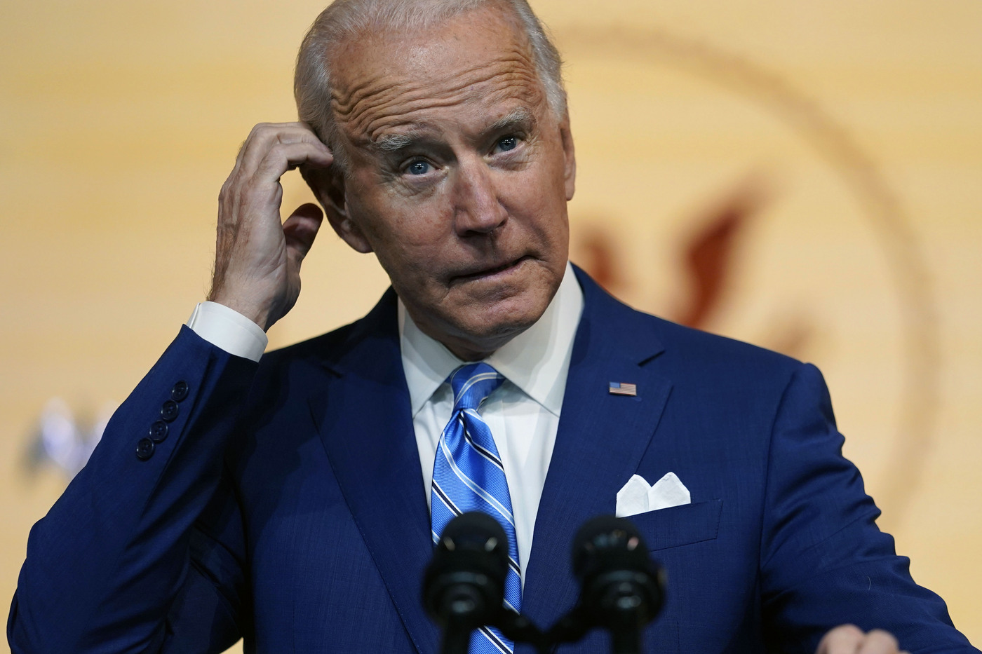 Il Presidente eletto Joe Biden parla dal Queen Theater di Wilmington