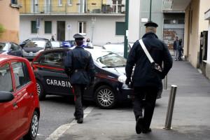 Sesto San Giovanni, Carabinieri sul luogo dell'omicidio di una donna di 49 anni