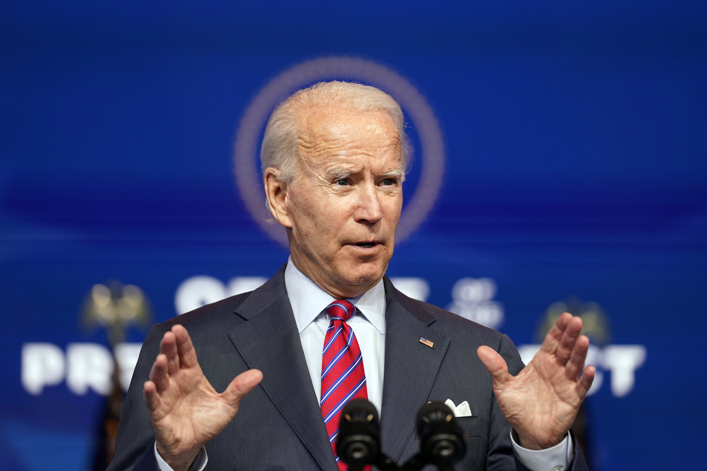 Usa, il presidente eletto Joe Biden al teatro The Queen di Wilmington