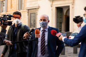 Arrivo dei senatori a Palazzo Madama per votare fiducia ad Alfonsp Bonafede