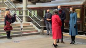 Regno Unito: l'arrivo di William e Kate a Edimburgo