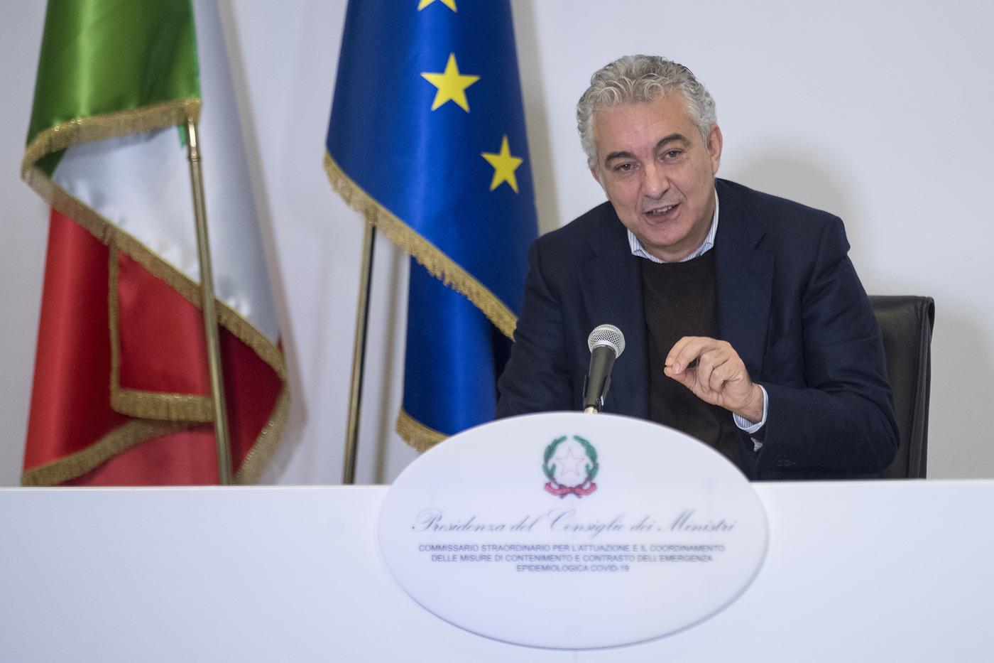 Conferenza stampa del Commissario straordinario per l'emergenza Covid-19 Domenico Arcuri