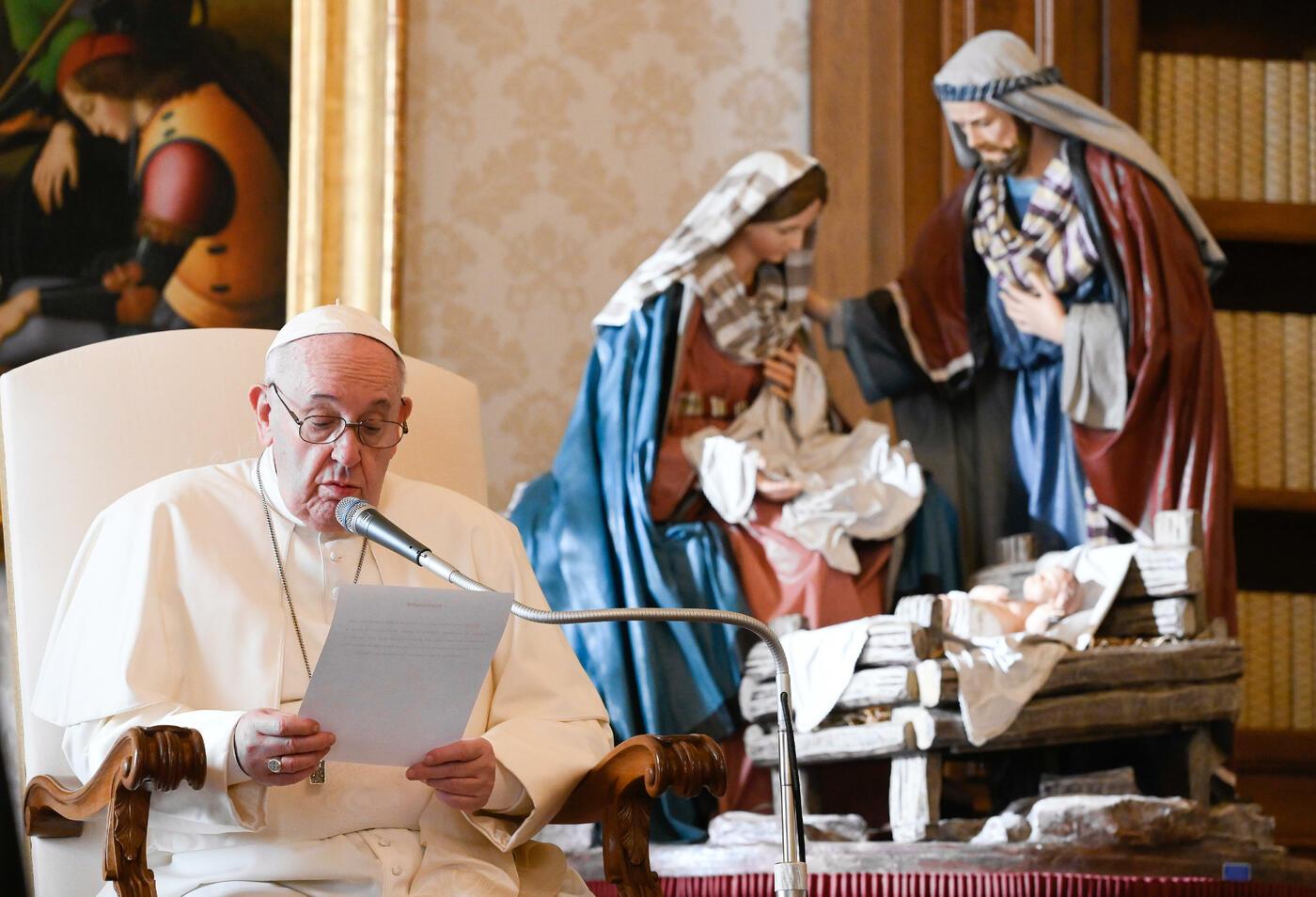 Udienza Generale di Papa Francesco presso la Biblioteca del Palazzo Apostolico
