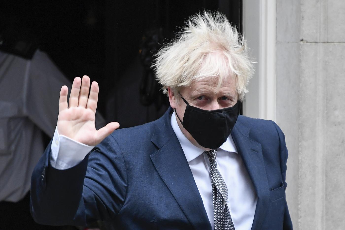Londra, il Primo Ministro britannico Boris Johnson si reca alla Camera dei Comuni